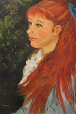 Renoir Redhead girl , aka Amy, by Sherry Joiner