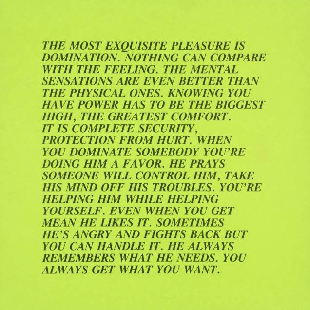 [no title] 1979-82 Jenny Holzer born 1950 Purchased 1983 http://www.tate.org.uk/art/work/P77407