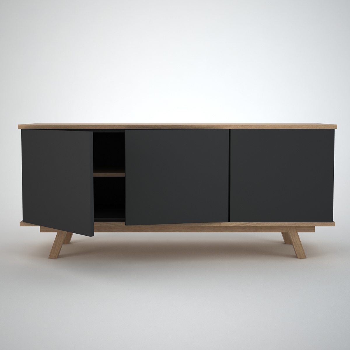 Sideboard Modern Ottawa Sideboard (3) Anthracite - Join Furniture