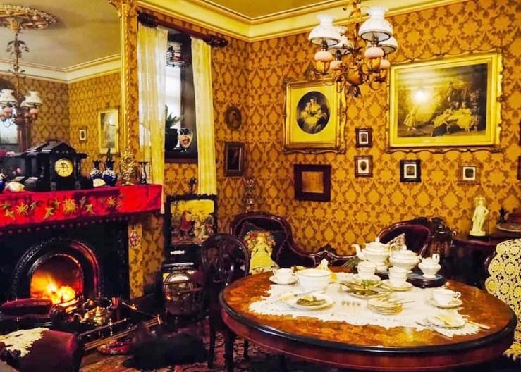 約克博物館(York Castel Museum)內展出的貴族飯廳