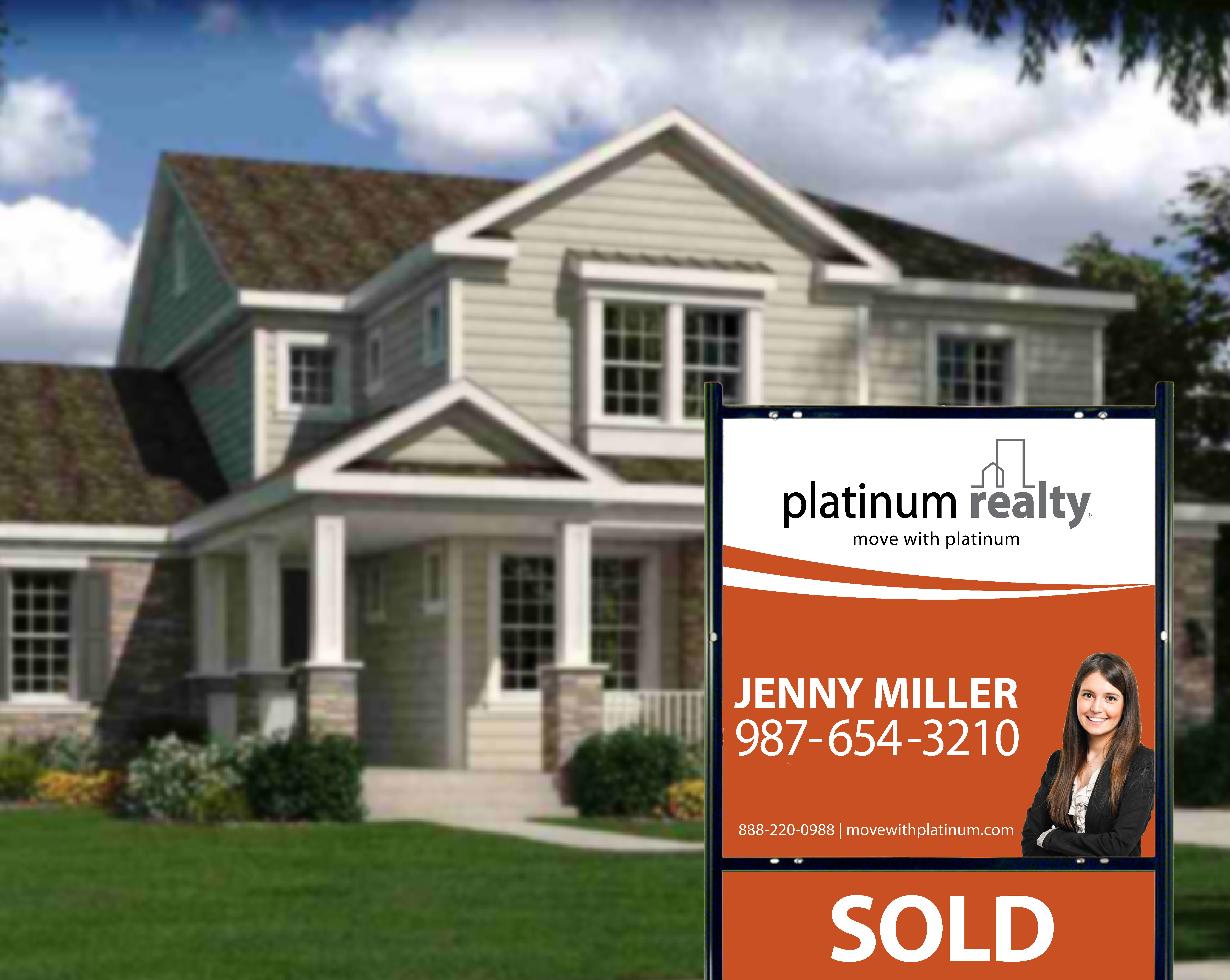 Sold Sign by Home