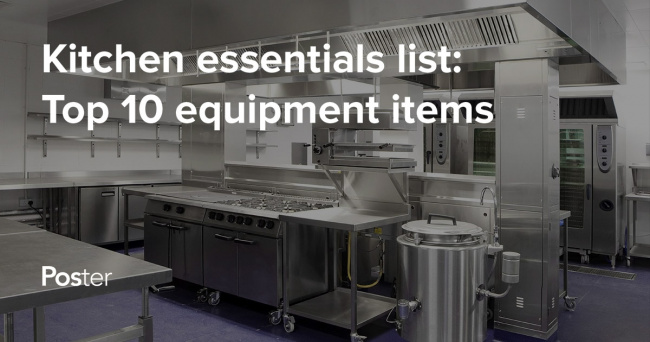 kitchen equipment list unique countertops 10 staples that every new restaurant needs poster