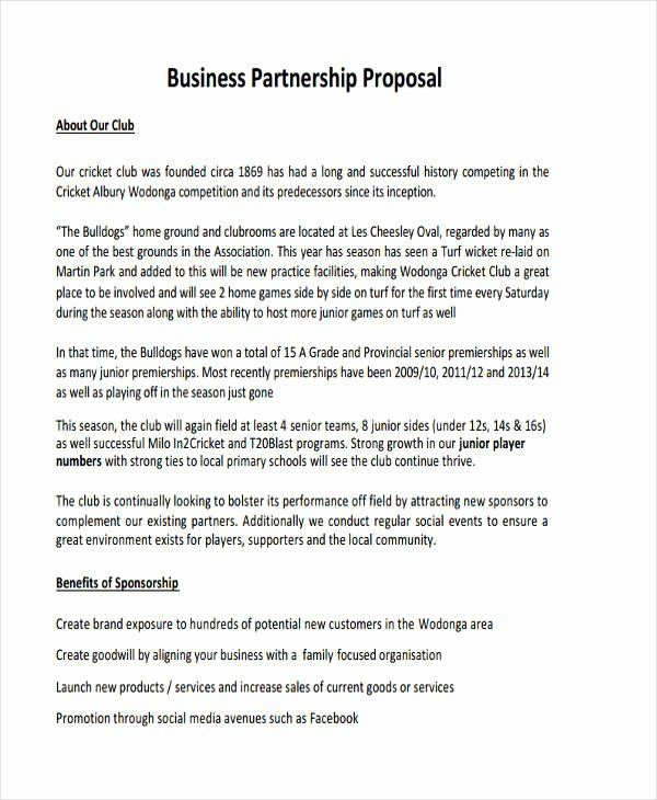 It's one of the primary ways that your custo. Business Partnership Proposal Template Joint Venture Letters