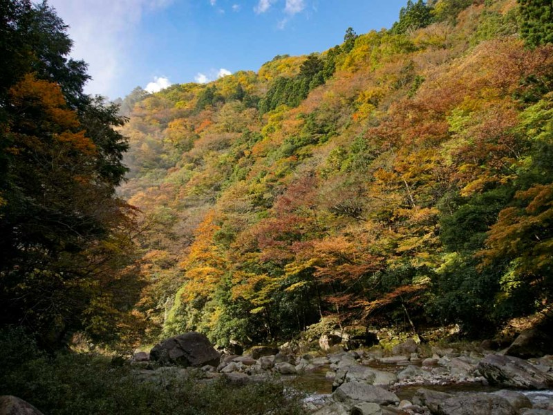Sandankyo fall colors