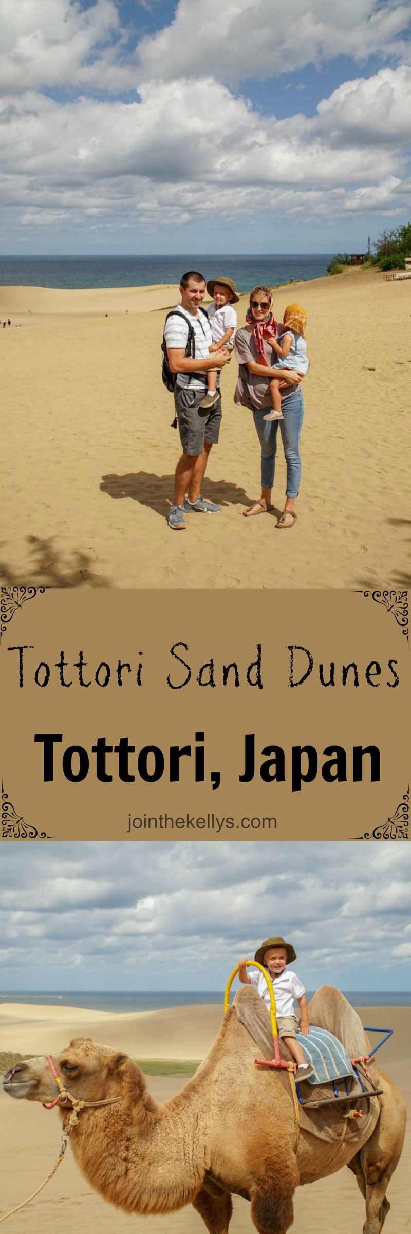 Family adventure to the Tottori Sand Dunes