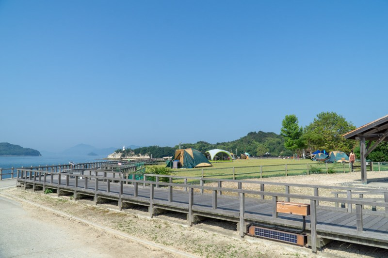 Okunoshima camping ground