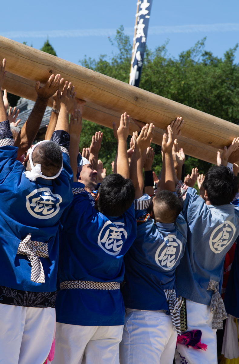 Taiko-lifting the float high