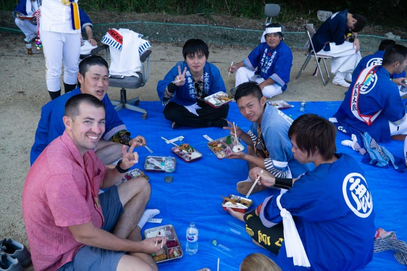 Taiko-lunch during festival