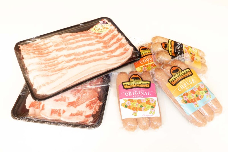 various pork products