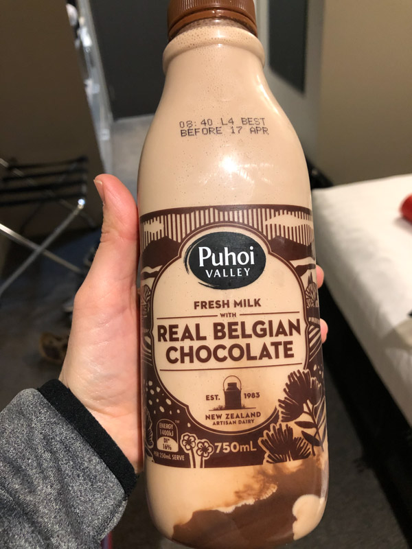 Belgian Chocolate milk in Queenstown