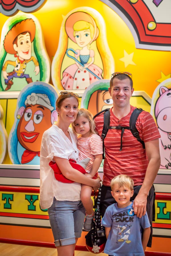 Disneysea family picture inside toystory