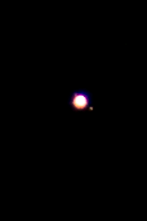 Jupiter in night sky near Lake Pukaki