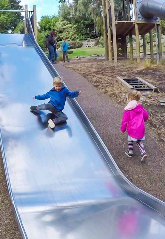 Queenstown-boy-on-slide