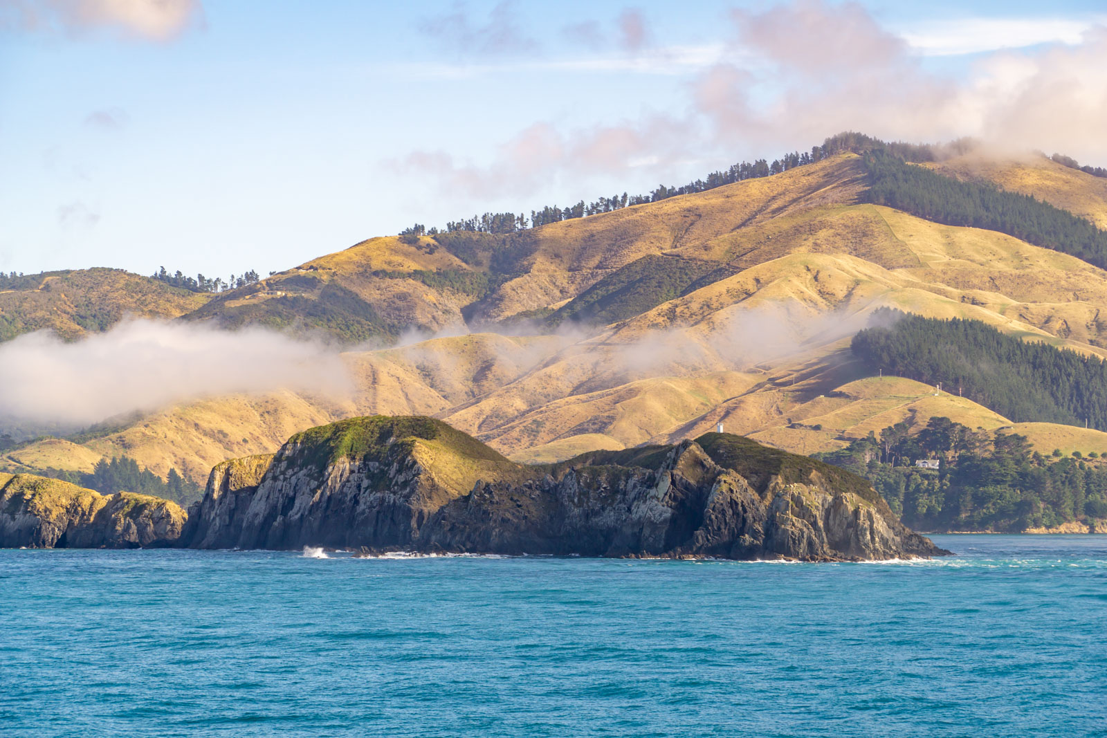 Christchurch mountains from ferry