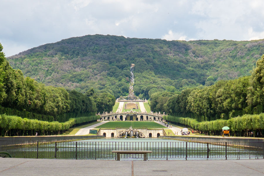 Caserta Palace park canal view