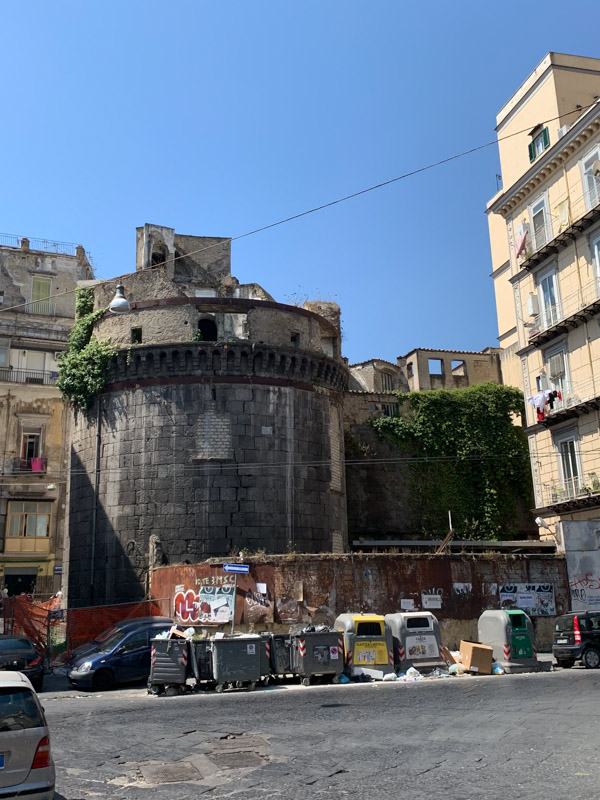 Naples Underground castle and garbge
