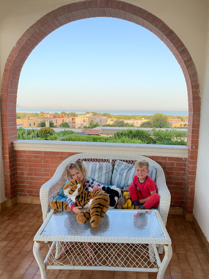 Naples Italy Navy Base kids at home