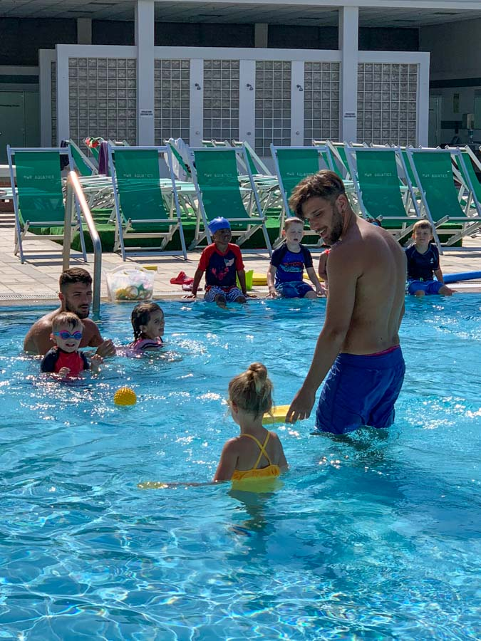 week 4 in italy swimming lessons