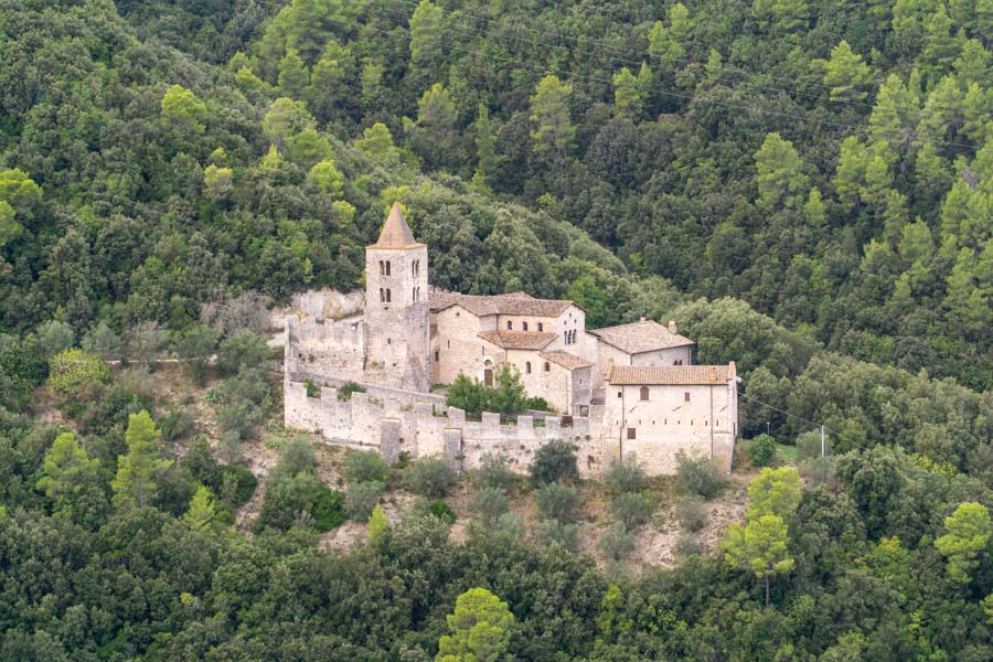 Narni church in the mountains