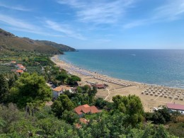 View of beach in Sperlonga