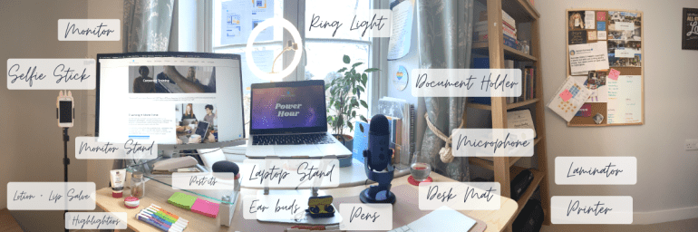 Home Office Must-Haves Labeled