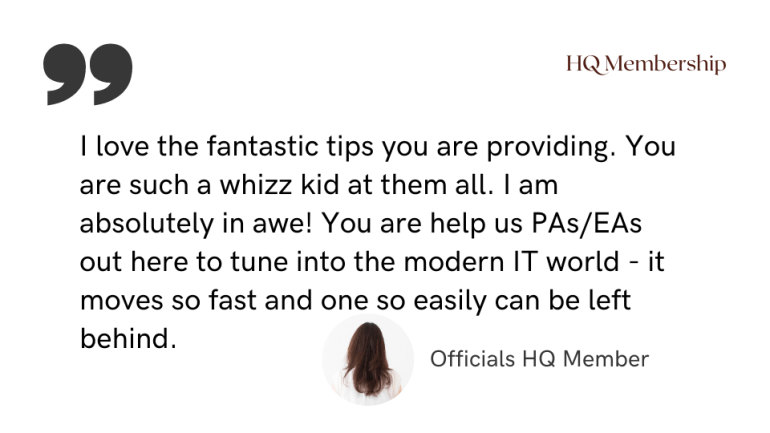 I love the fantastic tips you are providing. You are such a whizz kid at them all. I am absolutely in awe! You are help us PAs/EAs out here to tune into the modern IT world - it moves so fast and one so easily can be left behind.