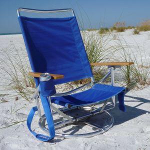swiveling beach chair