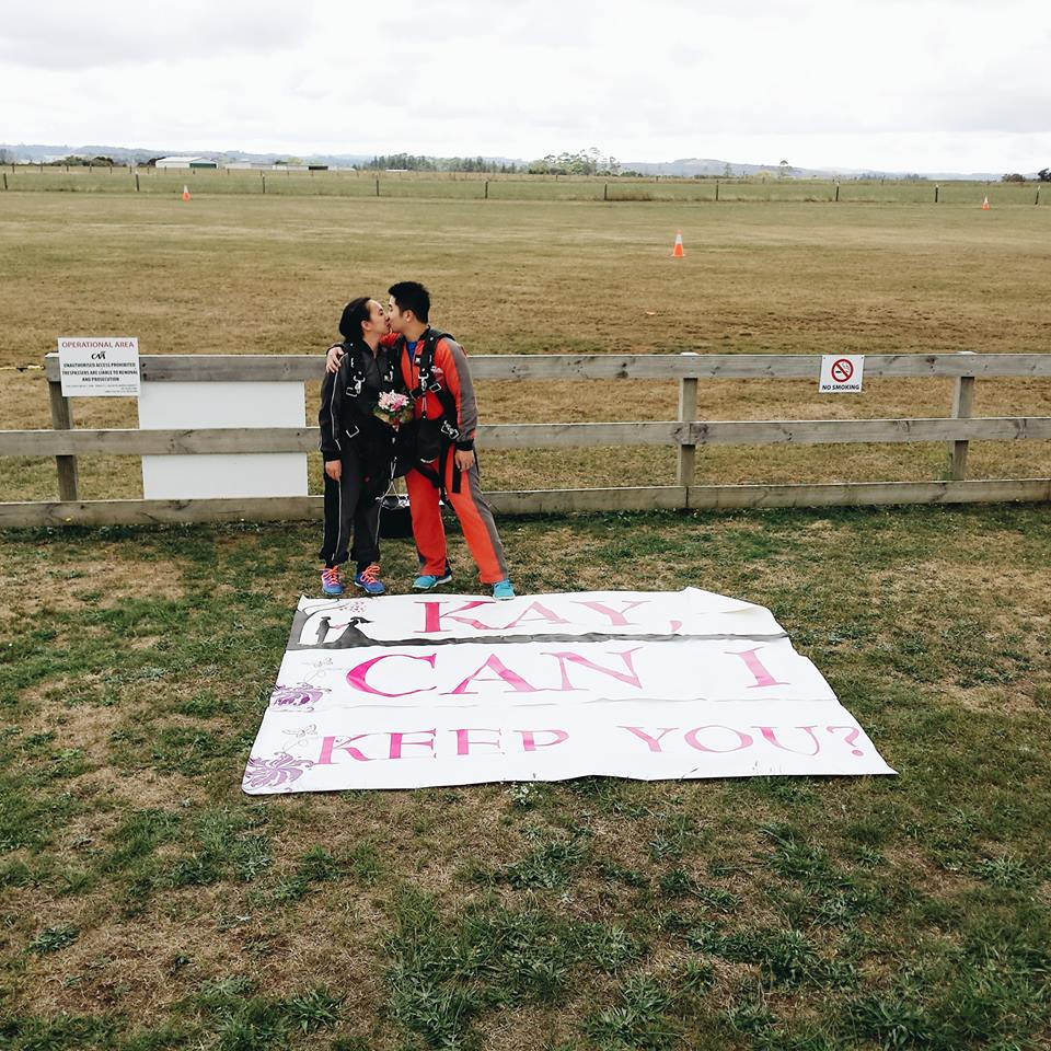 The Skydiving Proposal in New Zealand