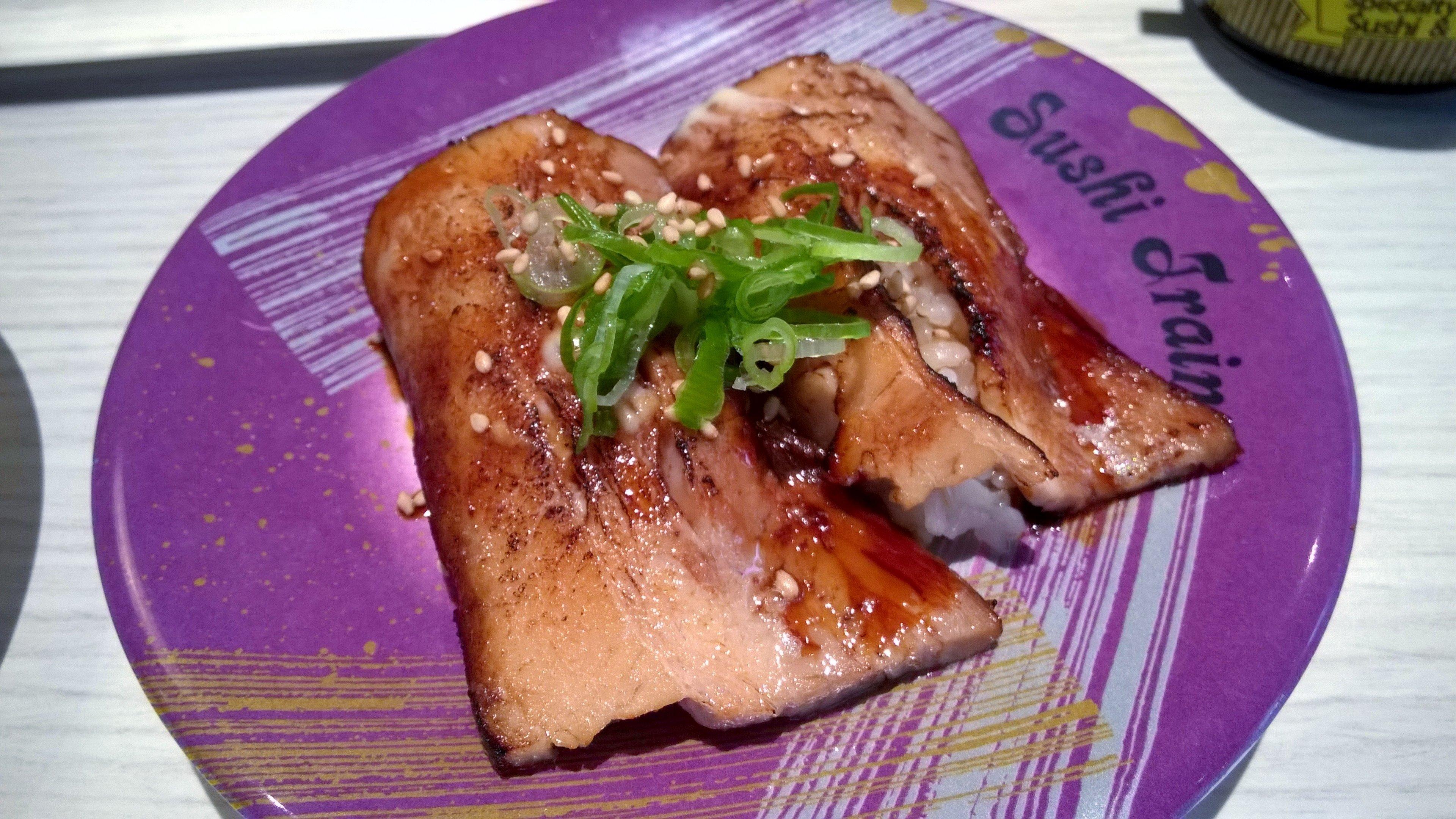 Grilled Chashu Sushi Train Chancery Lane Auckland