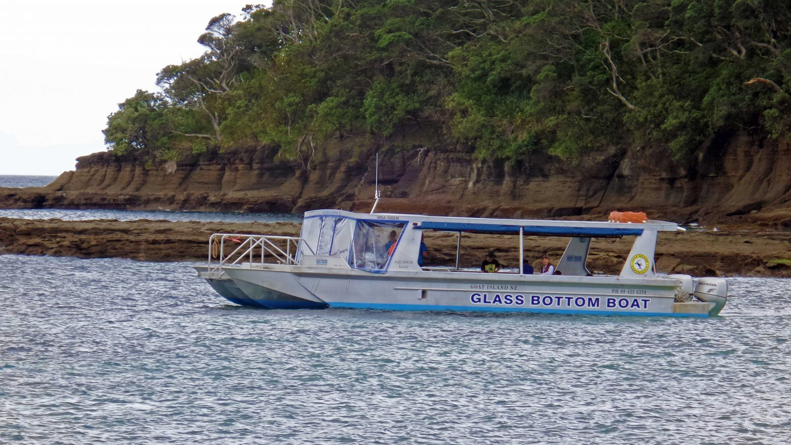 Glass Bottom Boat in Goat Island