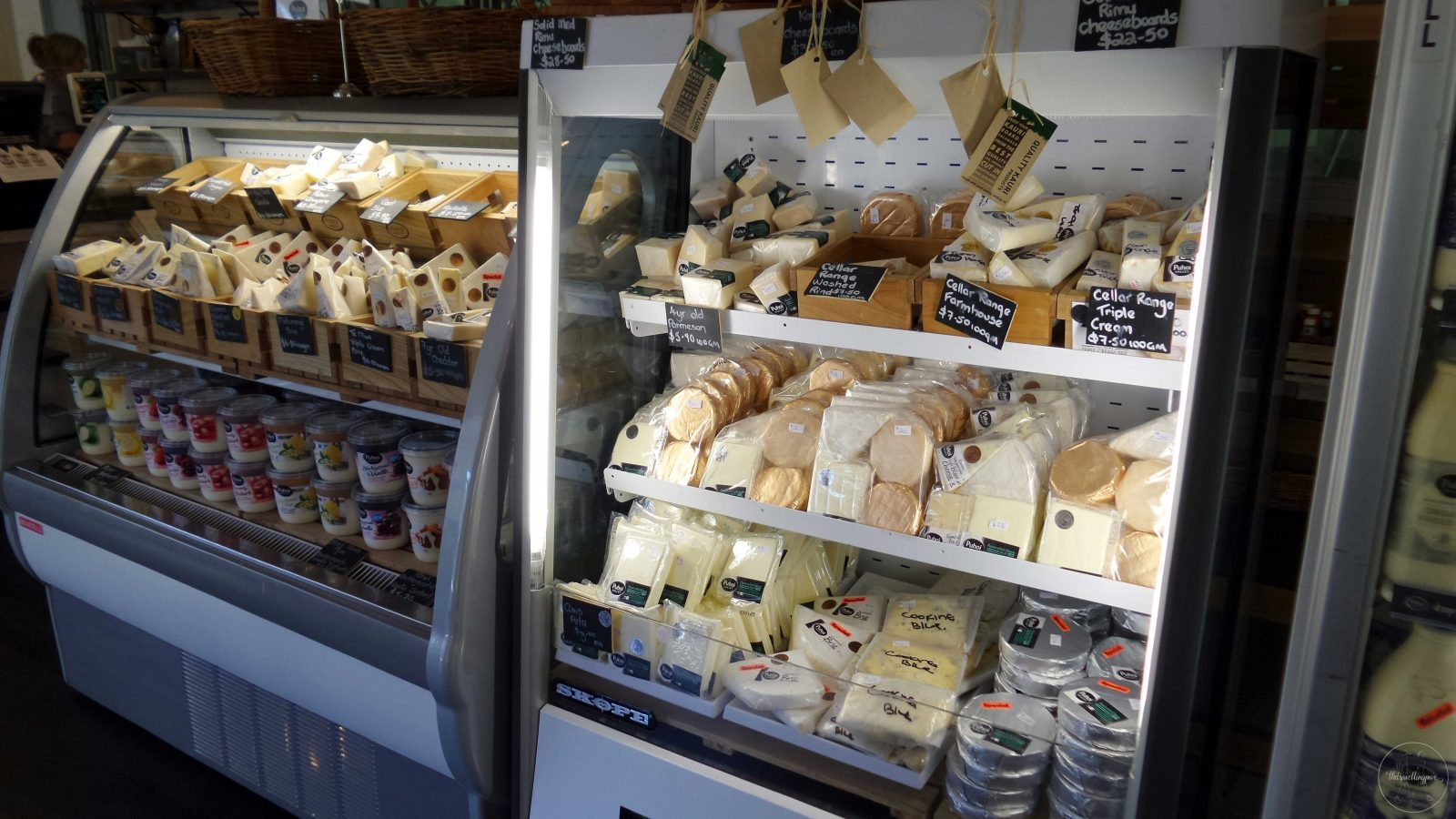 Puhoi Cheese and Milk Display