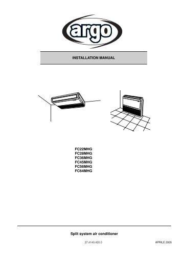 Daikin Air Conditioner Installation Manual