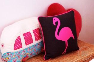 Meine Banktruhe wird auch von einem Flamingo bewohnt.