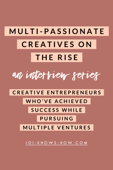 A series dedicated to proving that you CAN have success while pursuing multiple ventures.