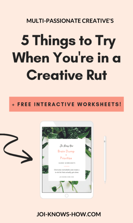 5 Things to Try When You're Stuck in a Creative Rut