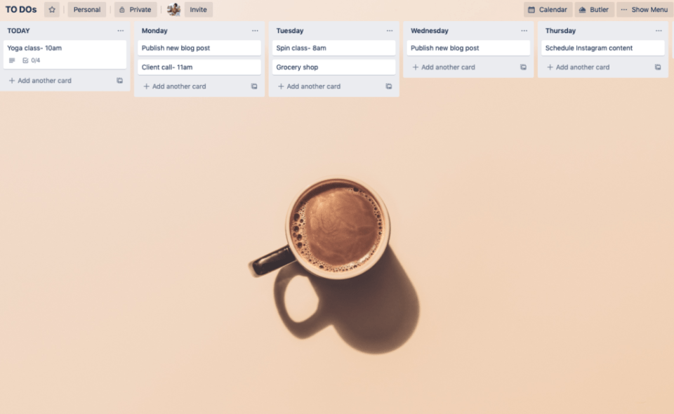 Use Trello to plan your daily tasks, work from home, multi-passionate creative, joi knows how blog