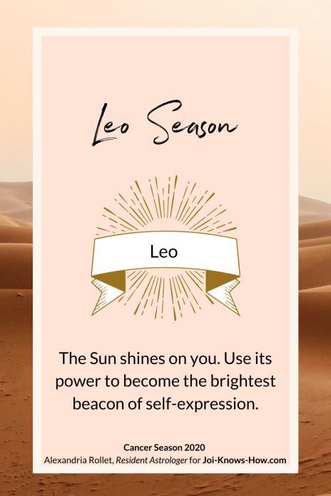 Leo Season | Leo Sign | Leo| July 2020 Astrological Horoscopes | Affirmations | multi-passionate creatives | Joi Knows How blog