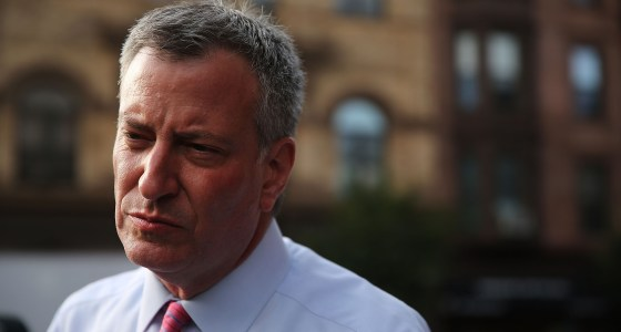 NYC Mayoral Candidate Bill de Blasio Campaigns In Brooklyn