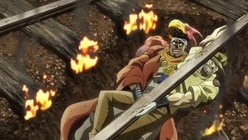 ジョジョ アニメ 第三部 第31話 助かった二人