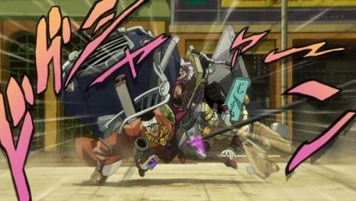 ジョジョ アニメ 第三部 第31話 マライア 挟み撃ち