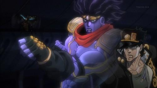 ジョジョ アニメ 第三部 第4話 灰の塔vsスタプラ