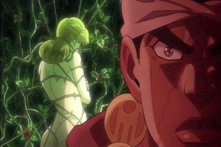 ジョジョ アニメ 第三部 第3話 アヴドゥル&&ホリィ