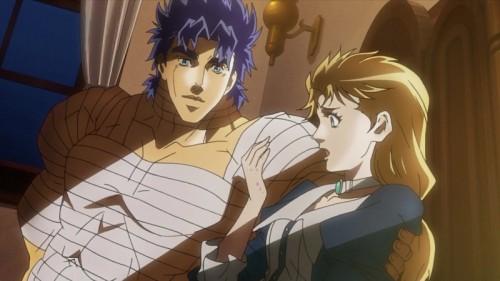 ジョジョ アニメ ジョナサンの看病するエリナ