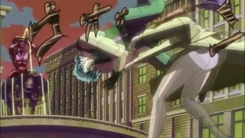 ジョジョ アニメ 第14話 女の子に投げ飛ばされるジョジョ