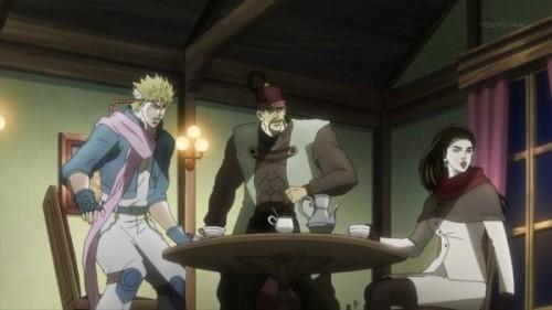 ジョジョ アニメ 第19話 騒ぎに気づいた三人