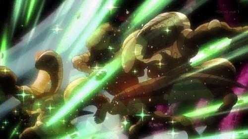 ジョジョ アニメ 第三部 第17話 エメラルドスプラッシュで吹っ飛ぶラバーズ