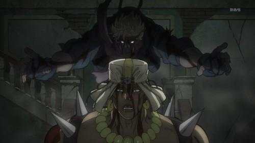 ジョジョ アニメ 第20話 ワムウの背後から強襲するシーザー