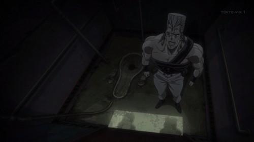 ジョジョ 第三部 第15話 トイレに隠れるポルナレフ