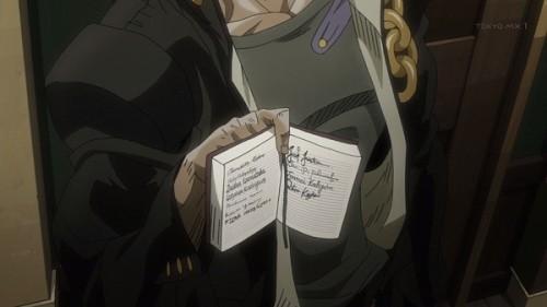 ジョジョ 第三部 第15話 宿帳をみせる承太郎