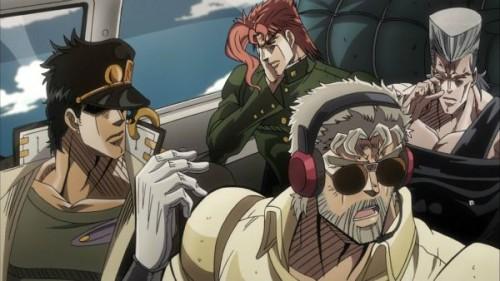 ジョジョ アニメ 第三部 第19話 ジョセフに起こされたポルナレフ